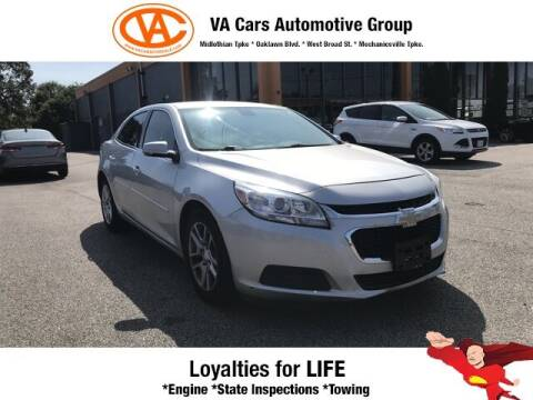 2015 Chevrolet Malibu for sale at VA Cars Inc in Richmond VA