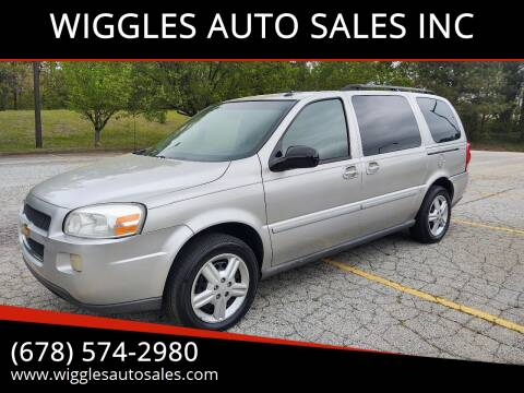 2005 Chevrolet Uplander for sale at WIGGLES AUTO SALES INC in Mableton GA