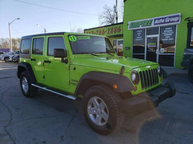 2013 Jeep Wrangler Unlimited for sale at Empire Auto Group in Indianapolis IN