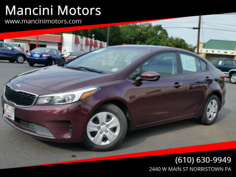 2017 Kia Forte for sale at Mancini Motors in Norristown PA