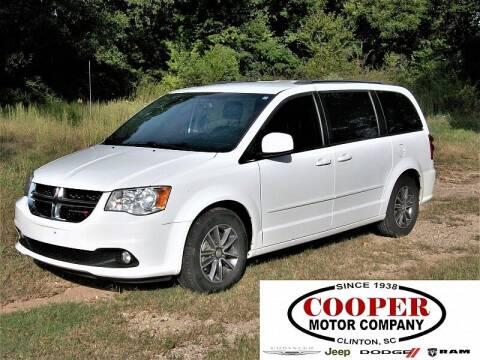 2017 Dodge Grand Caravan for sale at Cooper Motor Company in Clinton SC