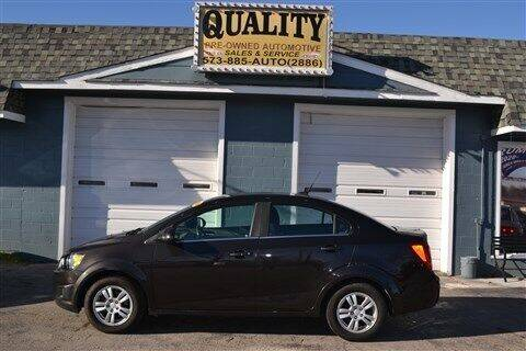 2014 Chevrolet Sonic for sale at Quality Pre-Owned Automotive in Cuba MO