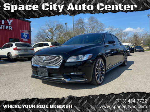 2017 Lincoln Continental for sale at Space City Auto Center in Houston TX