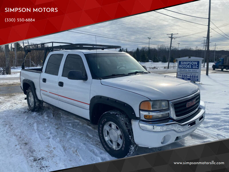 2006 GMC Sierra 1500 for sale at SIMPSON MOTORS in Youngstown OH