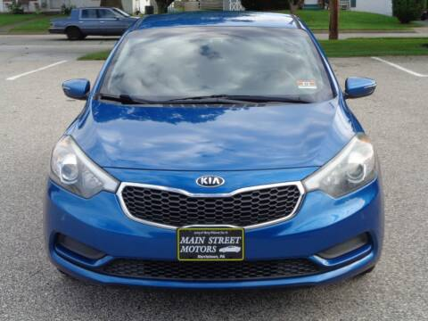 2014 Kia Forte for sale at MAIN STREET MOTORS in Norristown PA