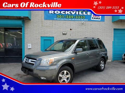 2007 Honda Pilot for sale at Cars Of Rockville in Rockville MD