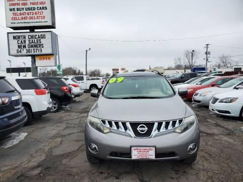 2009 Nissan Murano for sale at North Chicago Car Sales Inc in Waukegan IL