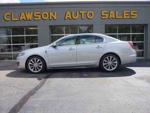 2012 Lincoln MKS for sale at Clawson Auto Sales in Clawson MI