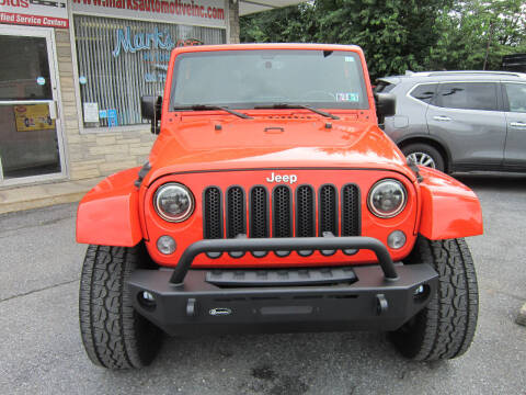 2015 Jeep Wrangler Unlimited for sale at Marks Automotive Inc. in Nazareth PA