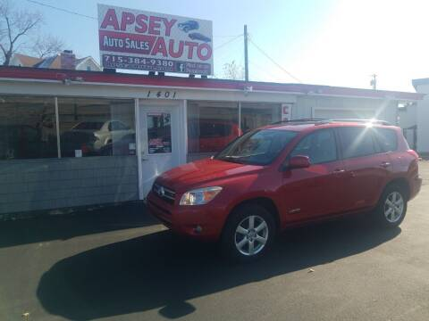 2008 Toyota RAV4 for sale at Apsey Auto in Marshfield WI