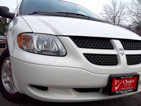 2001 Dodge Grand Caravan for sale at 1st Choice Auto Sales in Fairfax VA