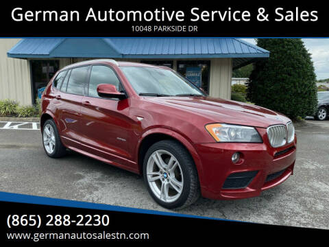 2013 BMW X3 for sale at German Automotive Service & Sales in Knoxville TN