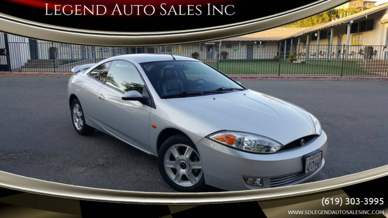2001 Mercury Cougar for sale at Legend Auto Sales Inc in Lemon Grove CA