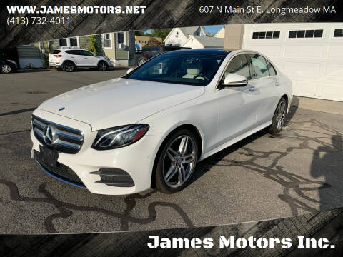 2017 Mercedes-Benz E-Class for sale at James Motors Inc. in East Longmeadow MA