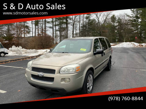 2008 Chevrolet Uplander for sale at S & D Auto Sales in Maynard MA