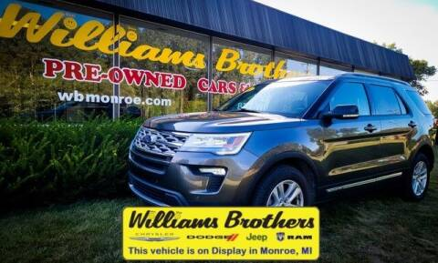 2018 Ford Explorer for sale at Williams Brothers - Pre-Owned Monroe in Monroe MI