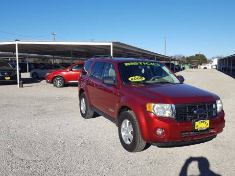 2008 Ford Escape for sale at Bostick's Auto & Truck Sales in Brownwood TX