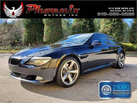 2010 BMW 6 Series for sale at Phoenix Motors Inc in Raleigh NC