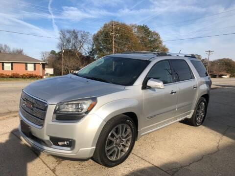 2013 GMC Acadia for sale at E Motors LLC in Anderson SC