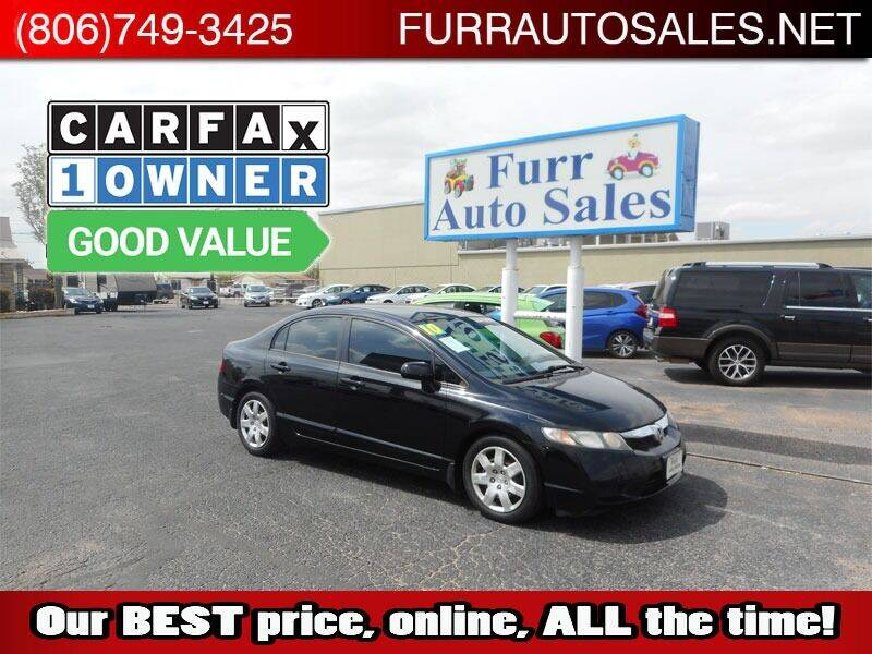 2010 Honda Civic for sale at FURR AUTO SALES in Lubbock TX
