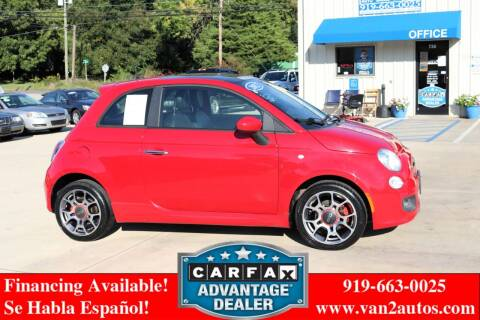 2012 FIAT 500 for sale at Van 2 Auto Sales Inc in Siler City NC