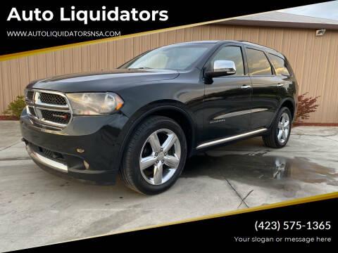 2012 Dodge Durango for sale at Auto Liquidators in Bluff City TN