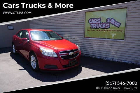 2013 Chevrolet Malibu for sale at Cars Trucks & More in Howell MI