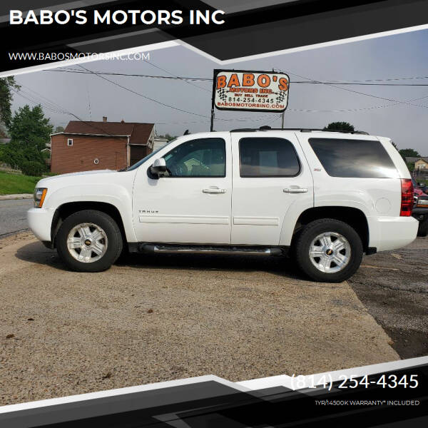 2011 Chevrolet Tahoe for sale at BABO'S MOTORS INC in Johnstown PA