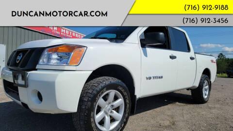 2015 Nissan Titan for sale at DuncanMotorcar.com in Buffalo NY