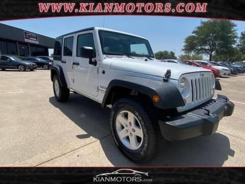 2018 Jeep Wrangler JK Unlimited for sale at KIAN MOTORS INC in Plano TX