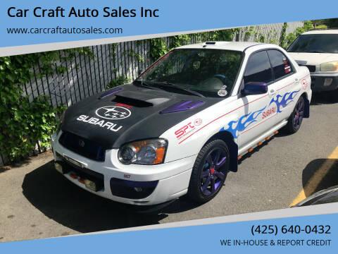 2004 Subaru Impreza for sale at Car Craft Auto Sales Inc in Lynnwood WA