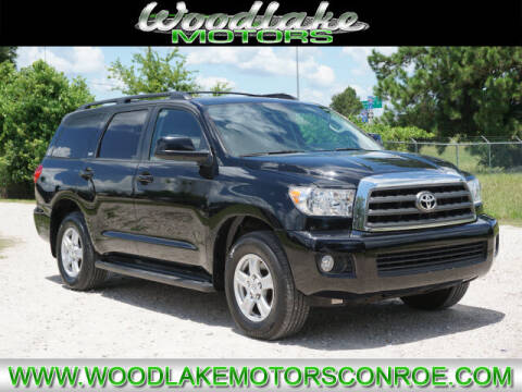 2012 Toyota Sequoia for sale at WOODLAKE MOTORS in Conroe TX