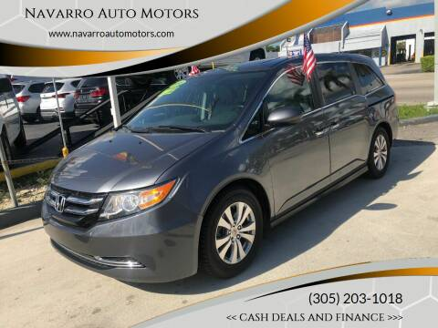 2014 Honda Odyssey for sale at Navarro Auto Motors in Hialeah FL