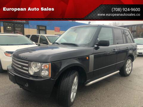 2004 Land Rover Range Rover for sale at European Auto Sales in Bridgeview IL