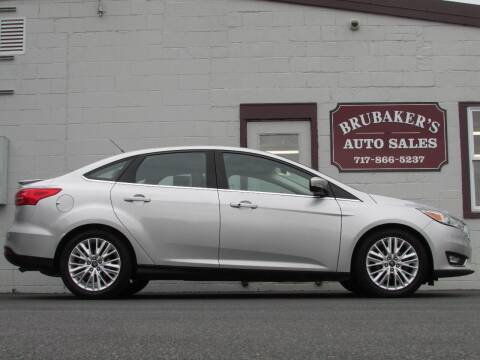2018 Ford Focus for sale at Brubakers Auto Sales in Myerstown PA