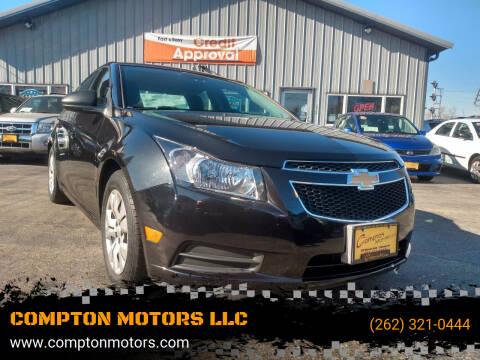 2014 Chevrolet Cruze for sale at COMPTON MOTORS LLC in Sturtevant WI