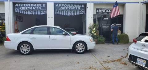 2007 Ford Five Hundred for sale at Affordable Imports Auto Sales in Murrieta CA