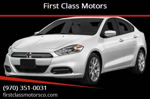 2013 Dodge Dart for sale at First Class Motors in Greeley CO