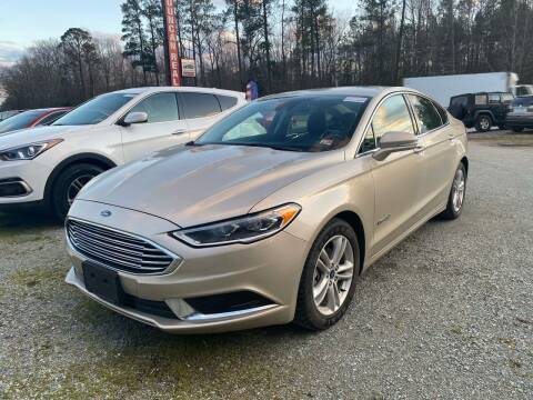 2018 Ford Fusion Hybrid for sale at Premier Auto Solutions & Sales in Quinton VA