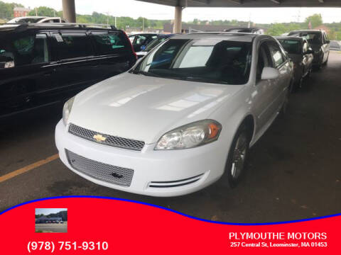 2013 Chevrolet Impala for sale at Plymouthe Motors in Leominster MA