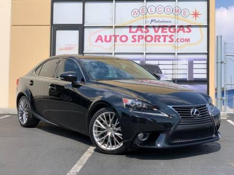 2014 Lexus IS 250 for sale at Las Vegas Auto Sports in Las Vegas NV