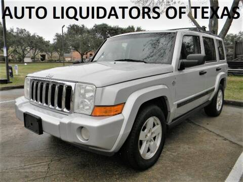 2006 Jeep Commander for sale at AUTO LIQUIDATORS OF TEXAS in Richmond TX