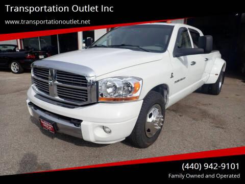 2006 Dodge Ram Pickup 3500 for sale at Transportation Outlet Inc in Eastlake OH