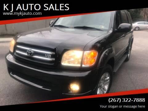 2003 Toyota Sequoia for sale at K J AUTO SALES in Philadelphia PA