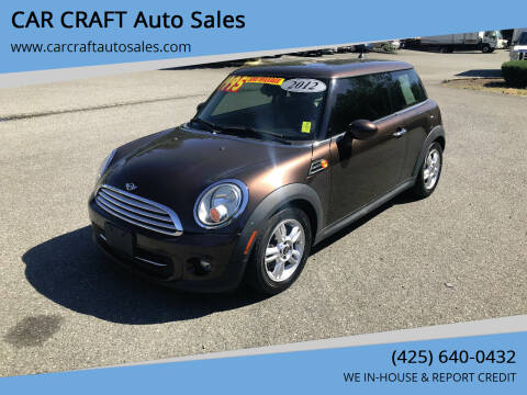 2012 MINI Cooper Hardtop for sale at Car Craft Auto Sales Inc in Lynnwood WA