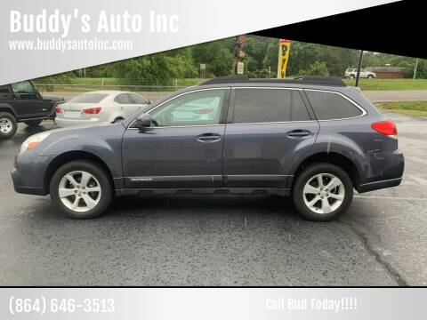 2014 Subaru Outback for sale at Buddy's Auto Inc in Pendleton, SC