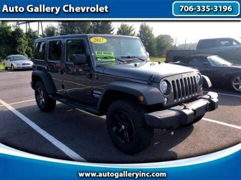 2017 Jeep Wrangler Unlimited for sale at Auto Gallery Chevrolet in Commerce GA