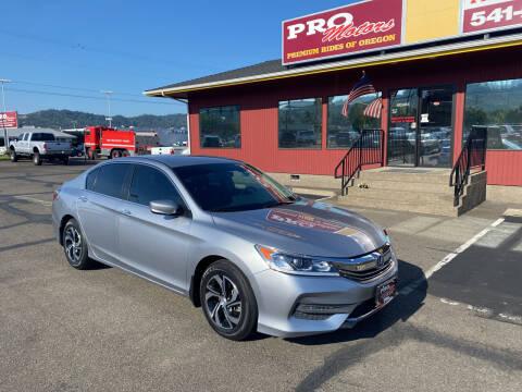 2017 Honda Accord for sale at Pro Motors in Roseburg OR