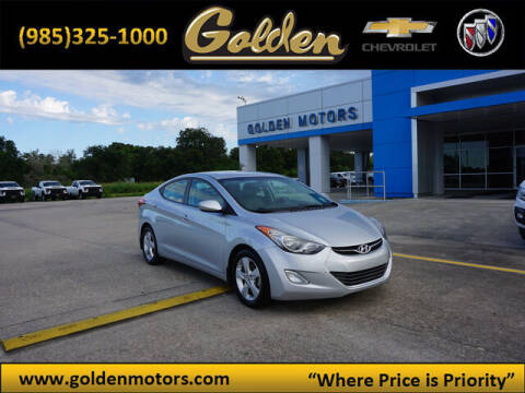 2013 Hyundai Elantra for sale at GOLDEN MOTORS in Cut Off LA
