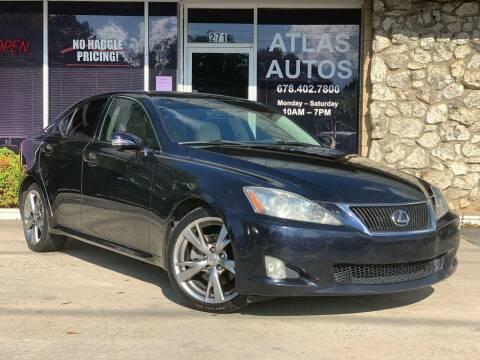 2009 Lexus IS 250 for sale at ATLAS AUTOS in Marietta GA